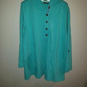 Aqua Susan Graver weekender sweatshirt tunic